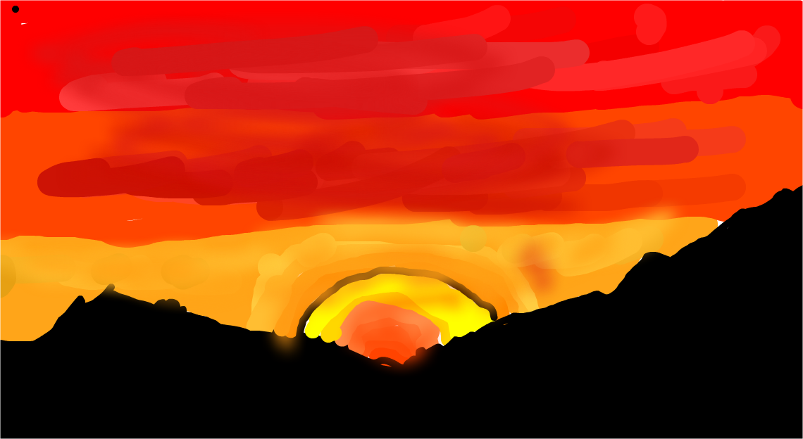 Sunset In The Mountains By Thebrotato 187 Drawings