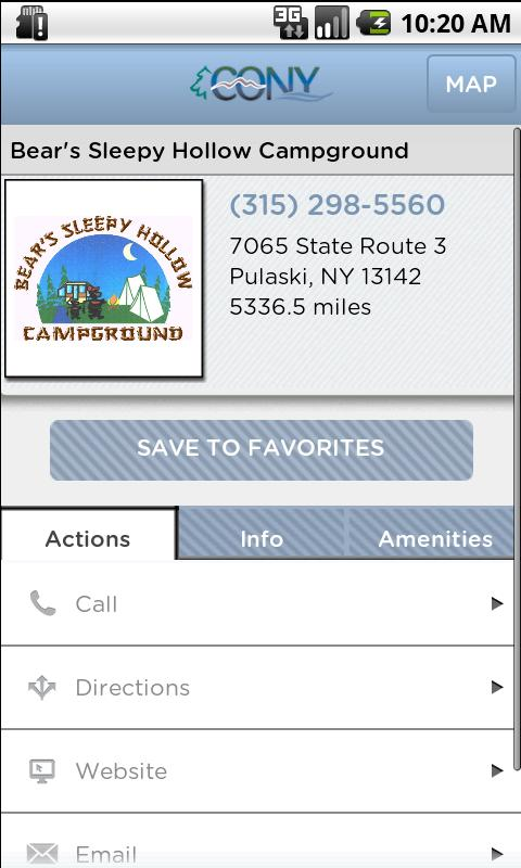 NY Campground & RV Park Guide - screenshot