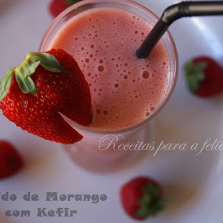 Strawberry Kefir Smoothie.