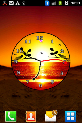 Sunset Analog Clock