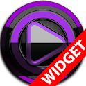 Poweramp widget - BLACK Purple icon