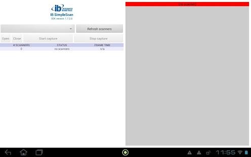 IBSimpleScan screenshot