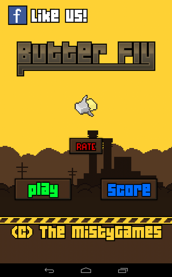 Flappy Butter Fly - screenshot