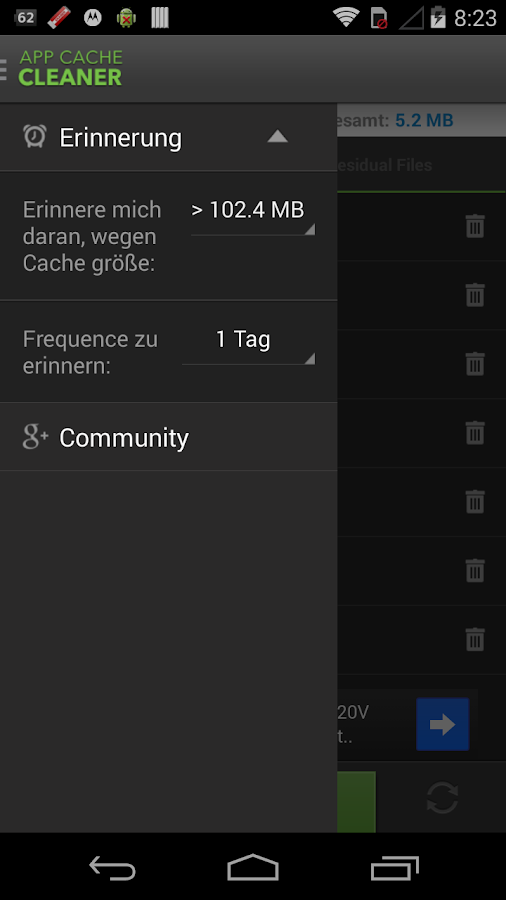 how to clear cache on play store lgg4