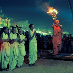 Prayer by Mriganka Sekhar Halder - People Group/Corporate ( prayer, god, men, worship, fire )