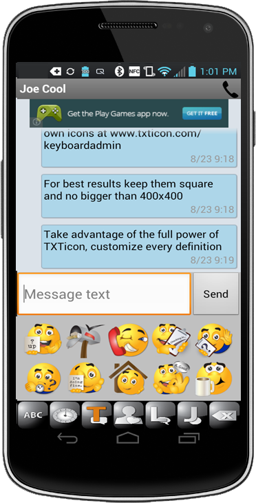 Txticon 3 7 Texting Made Easy Android Apps On Google Play