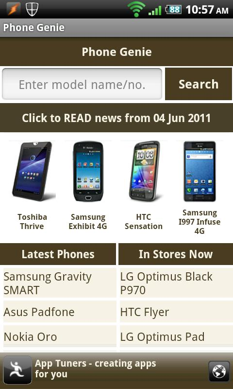 Phone Genie - GSMArena Browser - screenshot