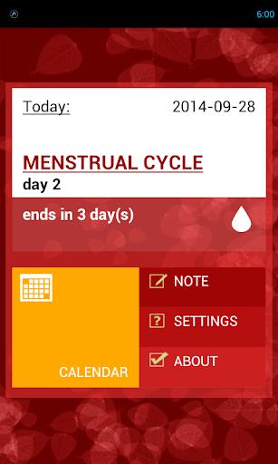 Woman's period calendar - Free