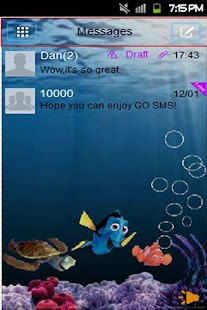 GO SMS Nemo Theme - screenshot thumbnail