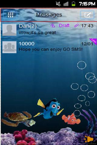GO SMS Nemo Theme - screenshot