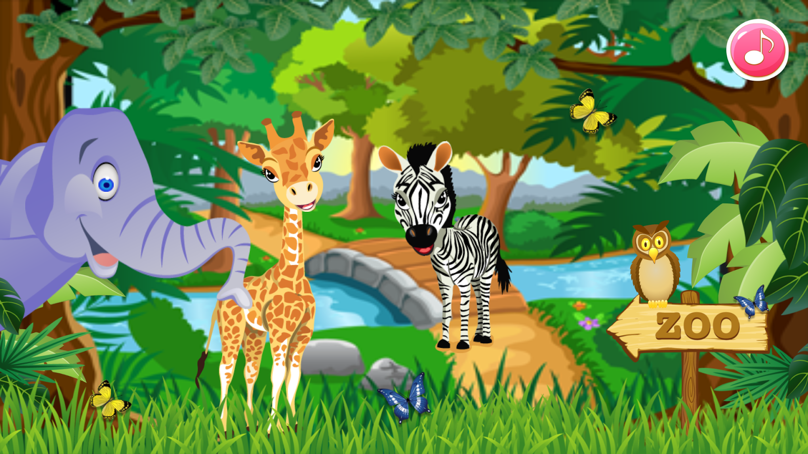 zoo animal family learning  android apps on google play Jungle Clip Art Baby Panda Clip Art
