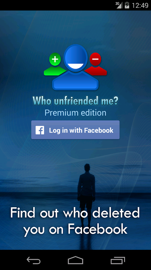 Who unfriended me?- screenshot