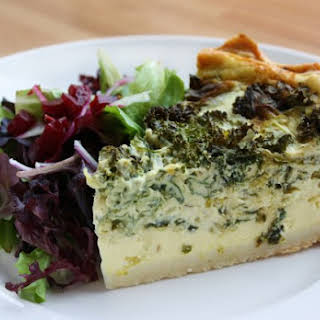 Grilled Asparagus And Feta Quiche.
