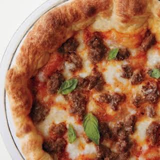 Deep-Dish Meatball Pizza.