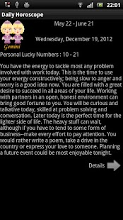 English Daily Horoscope - screenshot thumbnail