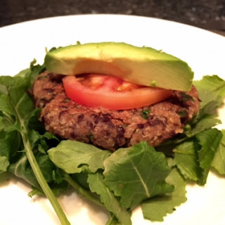 Quinoa Black Bean Burger.
