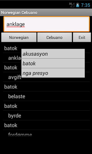 Cebuano Norwegian Dictionary
