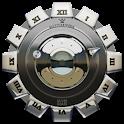 Clock Widget Silver Gear icon