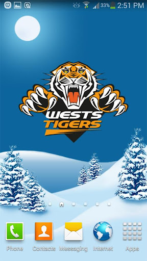 West Tigers Snow Globe