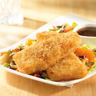Crunchy Fish Fillets with Asian Slaw .