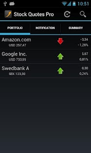 Stock Quotes - screenshot thumbnail