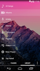 Poweramp skin KK Transparent v1.0.2