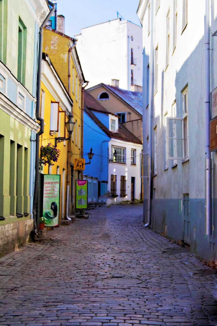 Bright colors and old-fashioned cobblestone alleyways await you in Tallinn, Estonia, when you take an Azamara cruise.