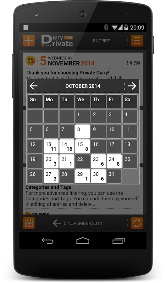 Private DIARY Free - Personal journal- screenshot