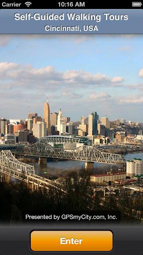 Cincinnati Map and Walks