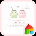 love milk dodol theme icon