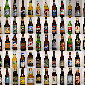 Get your cold beer here! by Pat Brink - Food & Drink Alcohol & Drinks ( beer, collage, liquor, brewing, adult beverage, Alcohol, booze, spirits  )