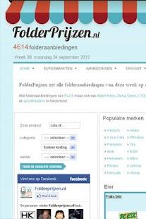 Folderprijzen- screenshot thumbnail