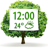 Nature Weather Clock Widget