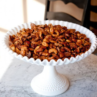 Bacon Candied Apple Spiced Nuts.