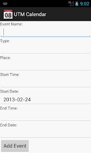 UTM Calendar - screenshot thumbnail