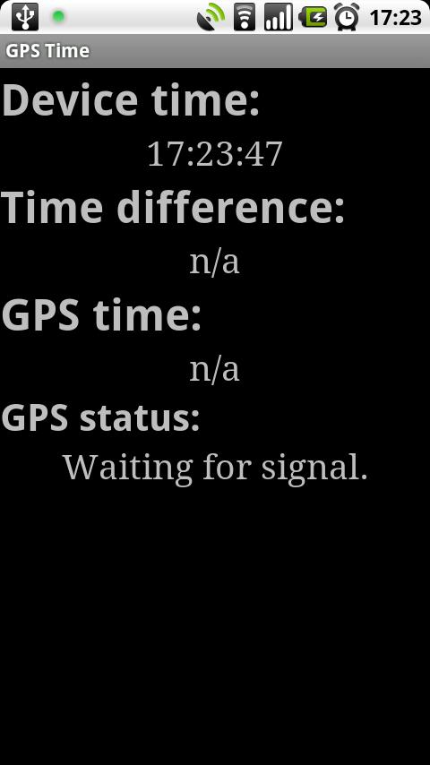 GPS Time - screenshot