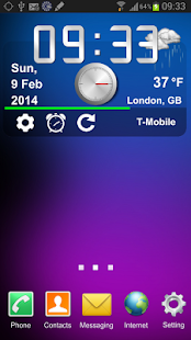 teraPhone Clock Weather Widget - screenshot thumbnail
