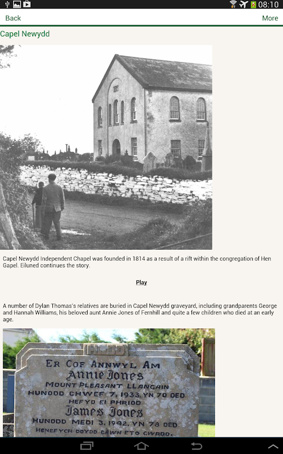 Llanybri Heritage Trails- screenshot