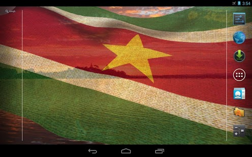 3D Suriname Flag LWP- screenshot thumbnail
