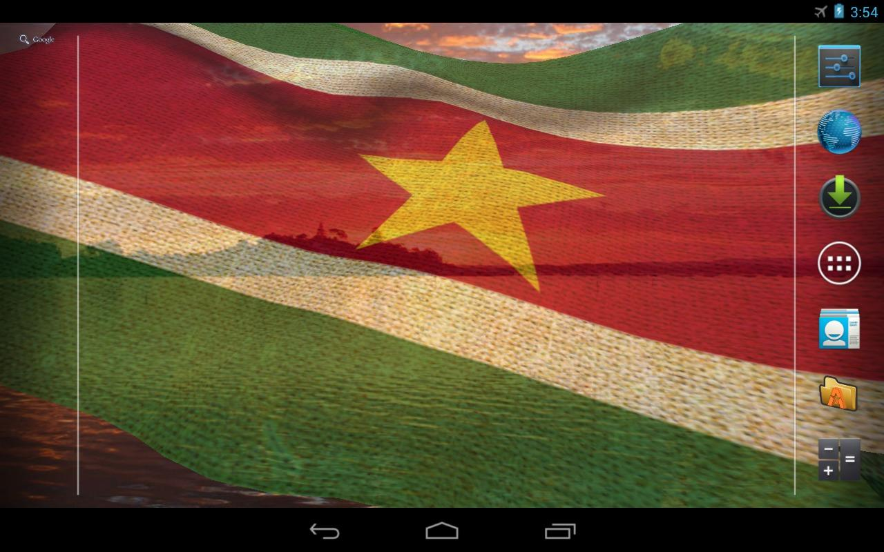3D Suriname Flag LWP - screenshot