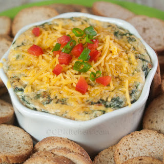 Kelsey's 4 Cheese Spinach Dip.