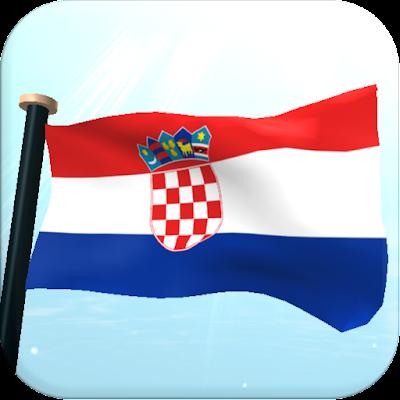 Хорватия Флаг 3D Бесплатных