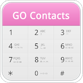 GO Contacts Pro Pink Theme