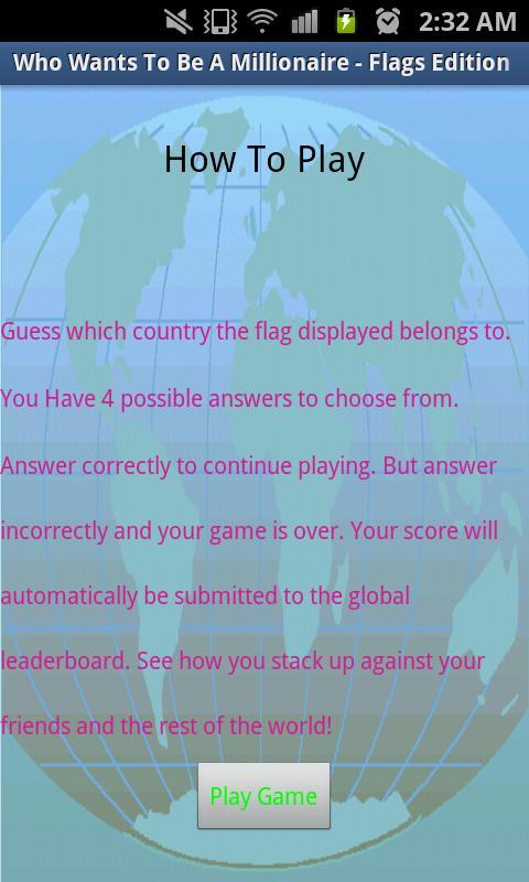 Millionaire - Flags Edition- screenshot
