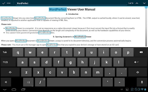 WordPerfect Viewer for Android screenshot 3