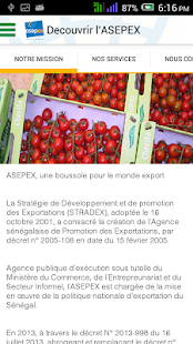 Sénégal Export - ASEPEX- screenshot thumbnail