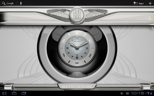 Clock Widget White Star Screenshot