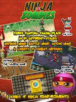 Screenshot of Ninja and Zombies