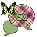 GO SMS THEME/PlaidButterfly2U icon