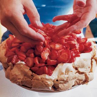 Strawberry and Hazelnut Meringue Cake